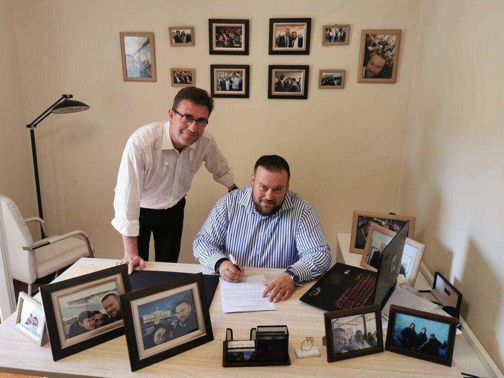 Την αίτηση υποψηφιότητας με τον καλό του φίλο Βασίλη Γιάπρο, κατέθεσε ο Σπύρος Κυριάκης!