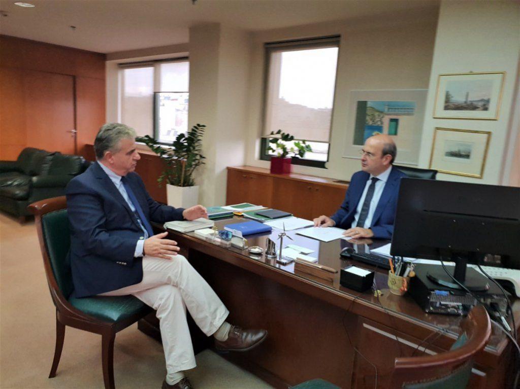 Συνάντηση Βουλευτή Λευκάδας Θανάση Καββαδά με τον Υπουργό Περιβάλλοντος Κωστή Χατζηδάκη για τα απορρίμματα